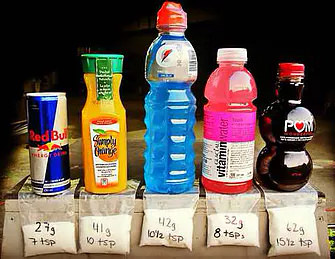 Beverages with sugar content